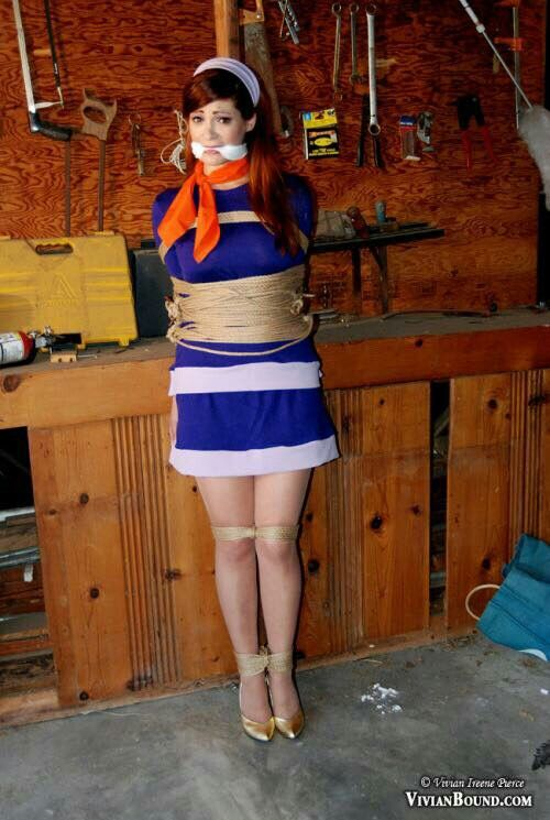 Pin by Shannon on pole tied | Girl tied up, Damsel in ...