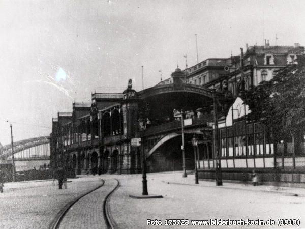 Der alte Deutzer Bahnhof, Deutzer Werft, 50679 Köln - Deutz (1910)