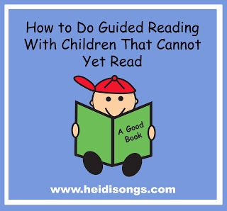 """""""How to Do Guided Reading with Children that Cannot Yet Read.""""  This post has some great procedures and routines for helping emergent readers get started learning beginning reading skills."""