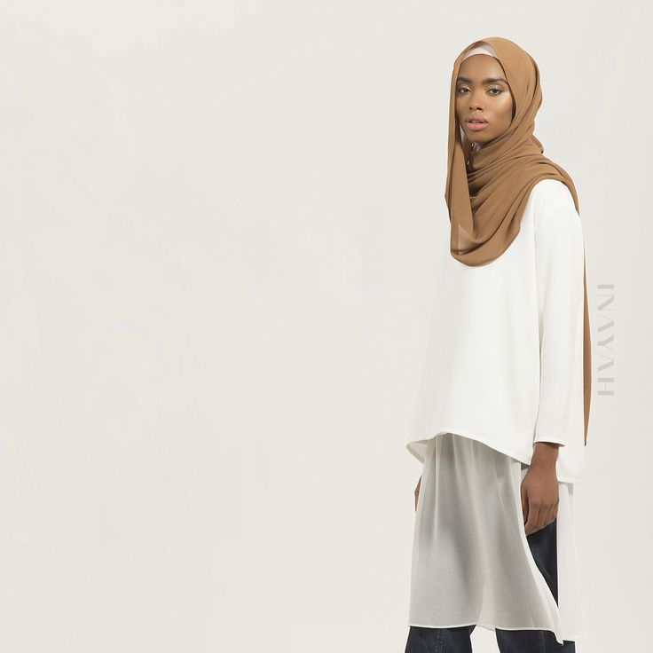 Our #SS16 hijab range exhibits a wonderful shade of natural hues and are exclusively dyed. We are also showcasing our very first Nude Collection which includes 10 beautiful shades to complement various skin tones - Nude Shade 6 Soft Crepe #Hijab + White Crepe Top + White Maxi #Slip Dress in Georgette + Pure Cotton Denim #Jeans - in our 50% sale section - www.inayah.co