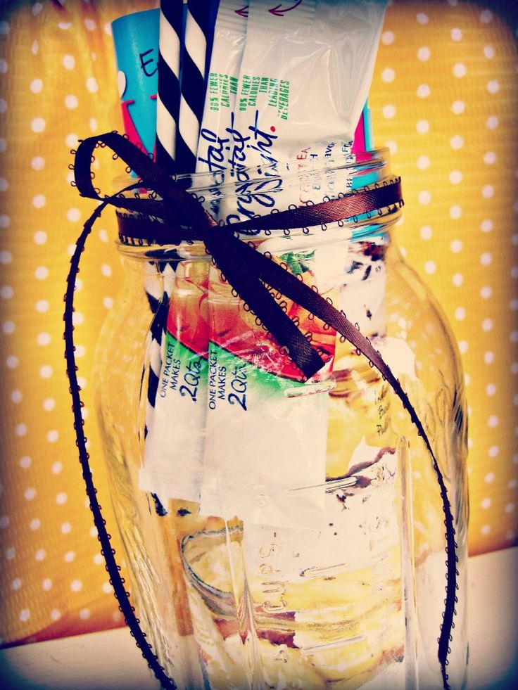 Summer Relaxation in a Jar Gift Idea - great idea and you could even add in gift cards as well!