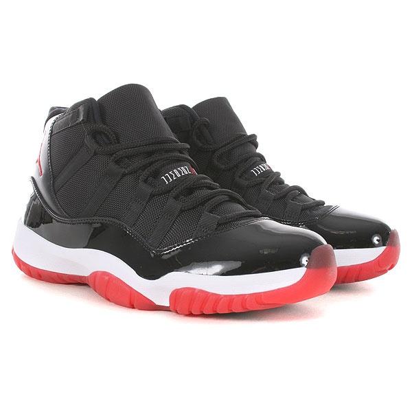 29596b248e367f Nike Air Jordan Retro 11 - Black-Varsity Red-White Bred Xi
