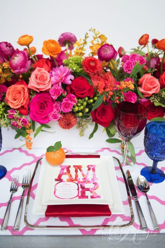 Cinco De Mayo, Mexican Style Wedding centrepiece by Rachel A. Clingen.: