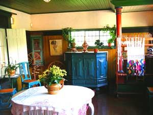 Interior - Carl Larsson's home -Love the teal, green, yellow/gold combo