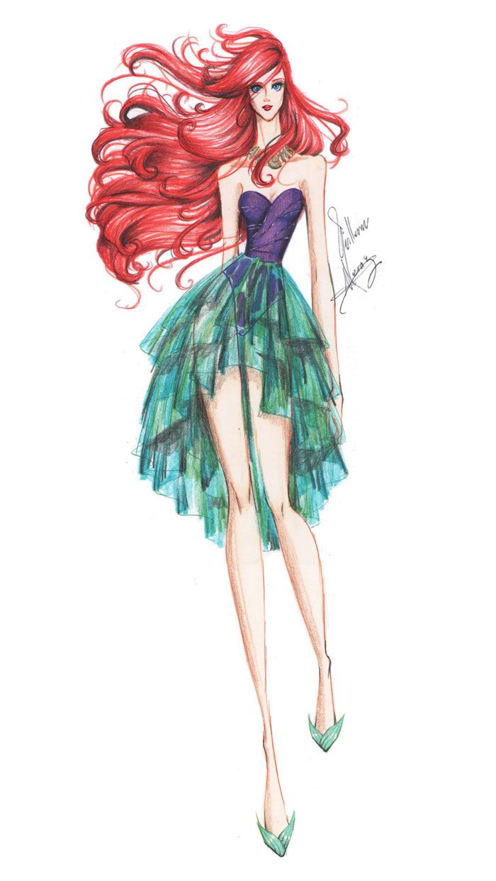Princesas Fashion por Guillermo Meraz - Ariel.