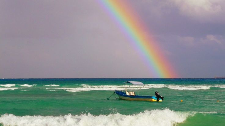 Arco Iris en Playa del Carmen