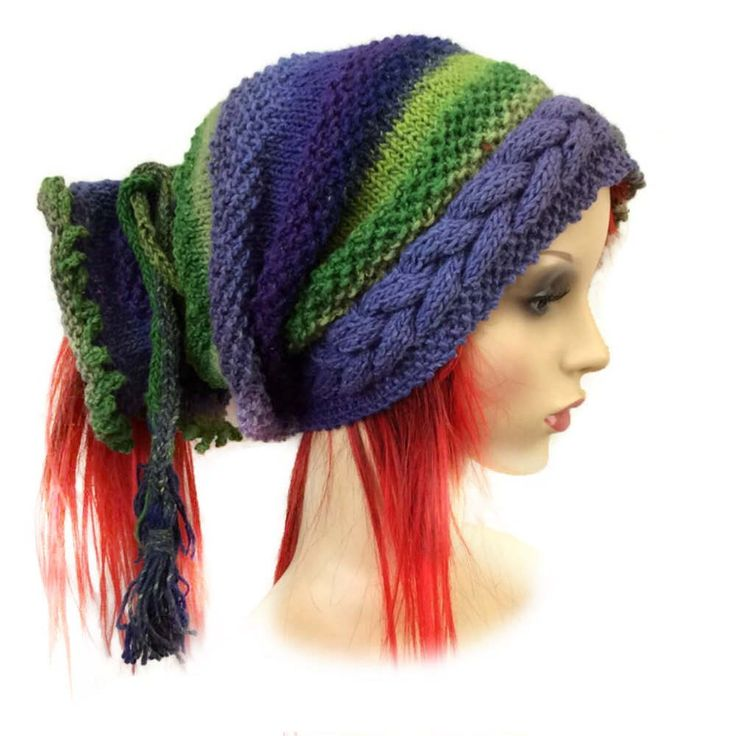Slouchy beanie, Dreadlock Hat, Dreads Hat, Tube Hat, Dreads Beanie, Slouch Beanie, Tube Beanie, Rasta Beanie cap, Slouchy Tam, Long hair hat