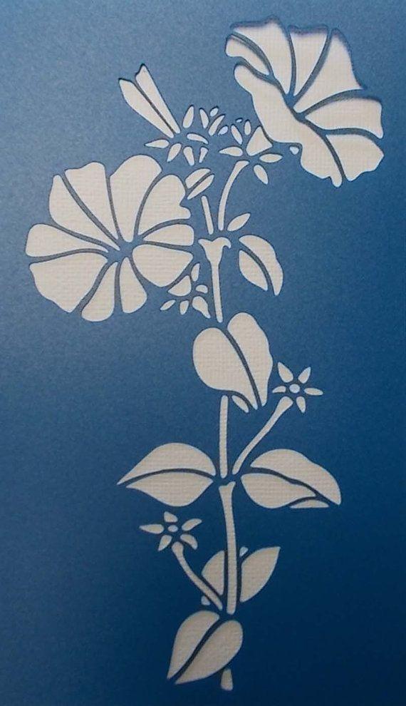 Petunia Stencil                                                                                                                                                                                 Mais