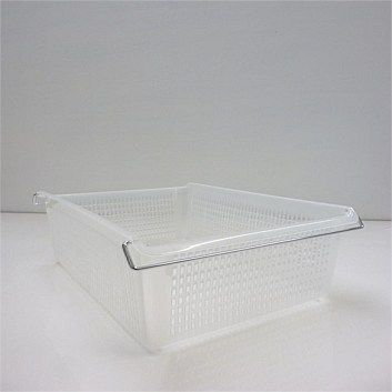Stackable baskets from Briscoes. Practical plastic, but quite stylish. Available in various sizes from A4 in tray to big 500mm baskets that work well in a linen cupboard to keep piles of manchester separate.