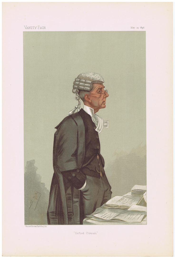 Date: 14-May-1896 The Vanity Fair Caricature of Mr. Arthur Richard Q.C. Jelf With the caption of : Oxford Circuit By the artist: SPY Visit www.theakston-thomas.co.uk for many more Vanity Fair Prints, we have one of the largest collections in the world.
