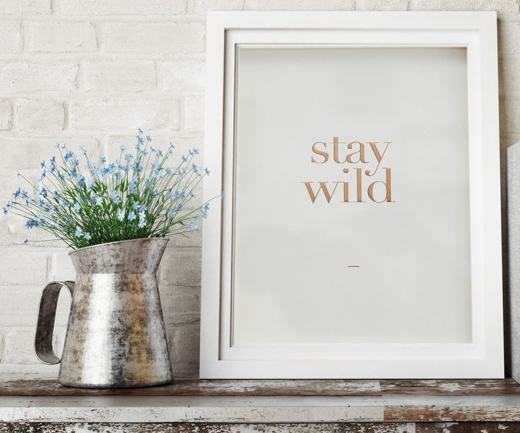 """""""Stay Wild"""" print from Maggs London. I've followed Hannah Maggs and her husband Stef for over a year and they are an incredible little family I would love to support! Plus this print would look PERFECT in my room and I love it!!"""