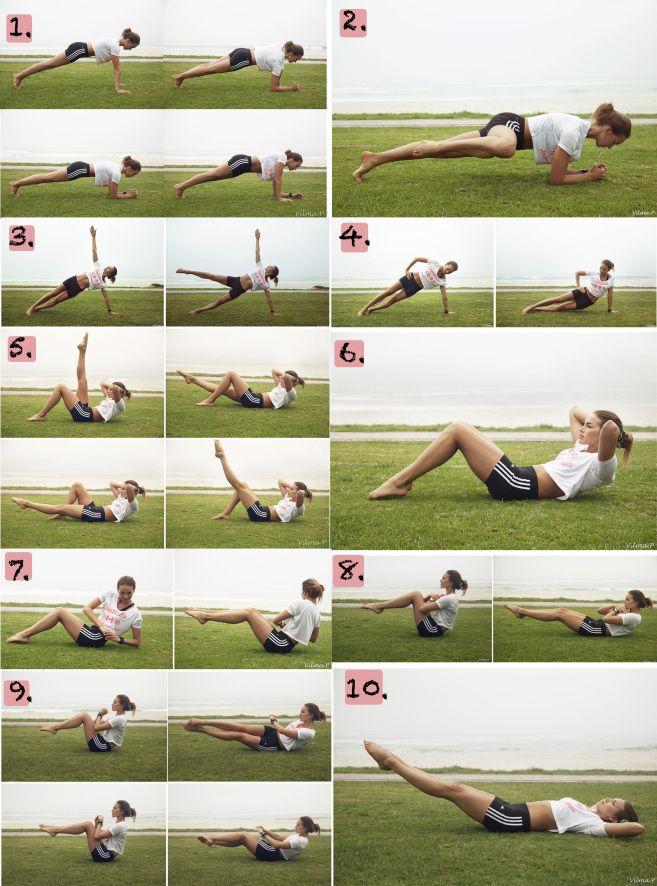 20 liikettä ja 3 treeniä VATSOILLE