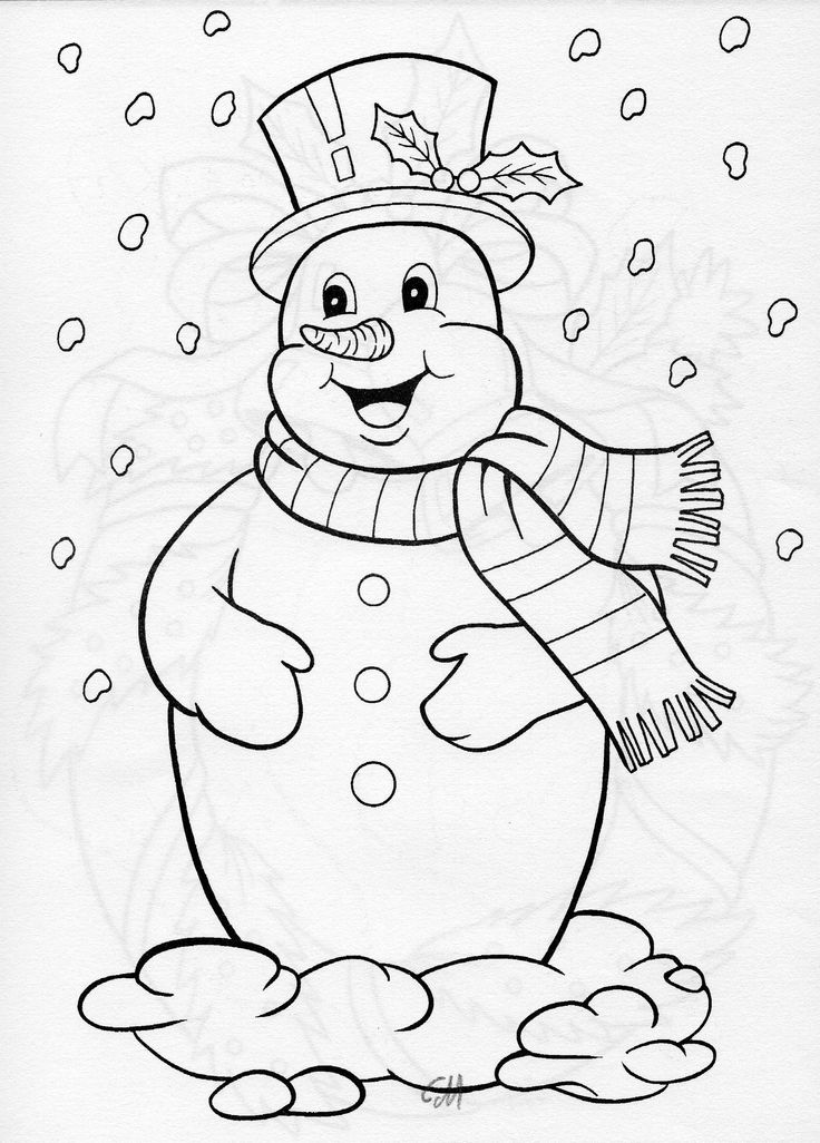 jolly snowman BLANKS COLORING