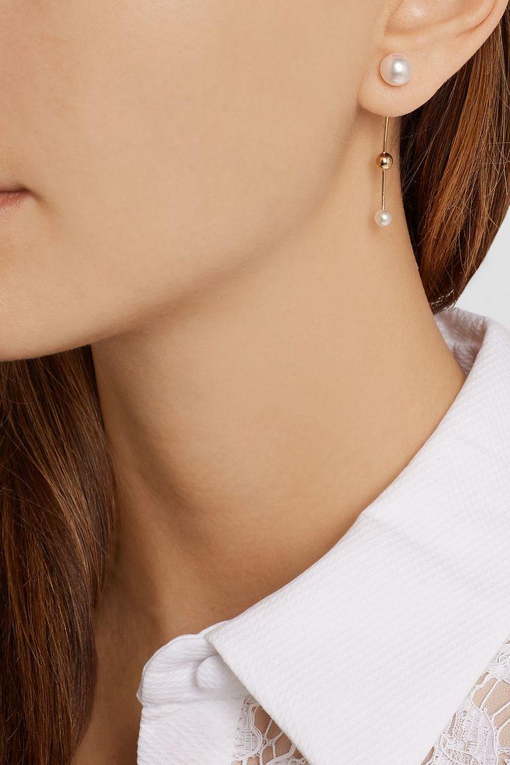 Sophie Bille Brahe|14-karat gold pearl earring|NET-A-PORTER.COM
