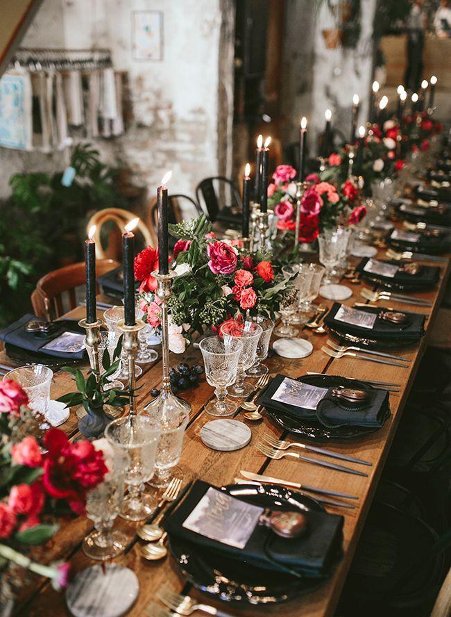 Vertraute und schwermütige botanische Hochzeit in…