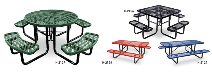 Metal Picnic Tables in Stock - ULINE