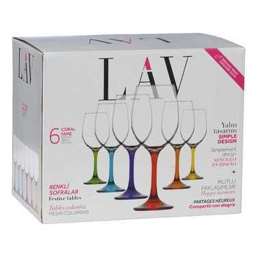 LAV Fame White Wine Glass Set Multicoloured