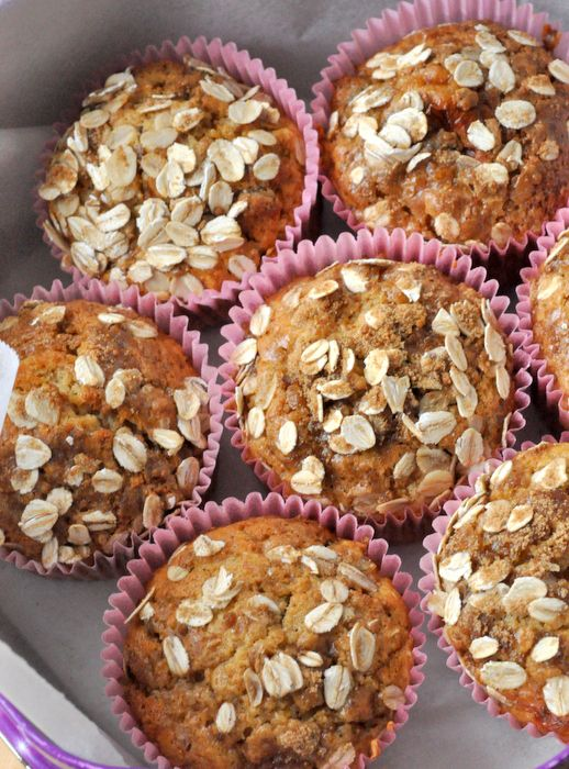 Muffins flocons avoine abricots dattes