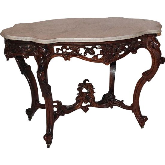 OUTSTANDING 1850's Rococo Rosewood Victorian Center Table attrib. to Joseph  Meeks ~ Magnificent Piece of Fine Antique Furniture - 8 Best Antique Rococo Rosewood High End Makers Images On Pinterest