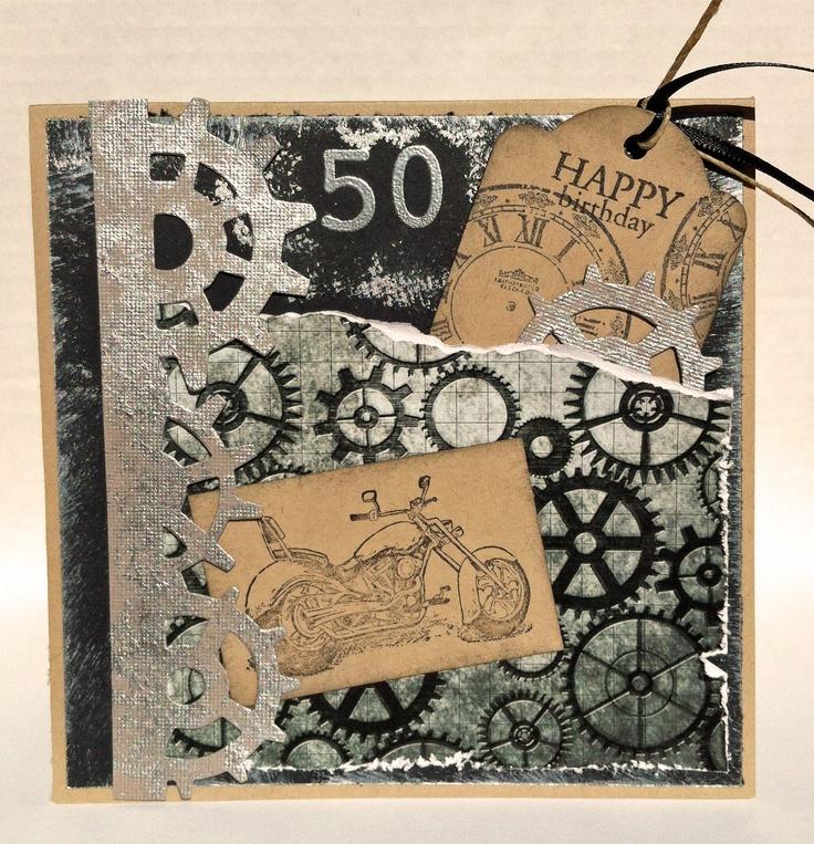 carte fête des peres - moto - steampunk