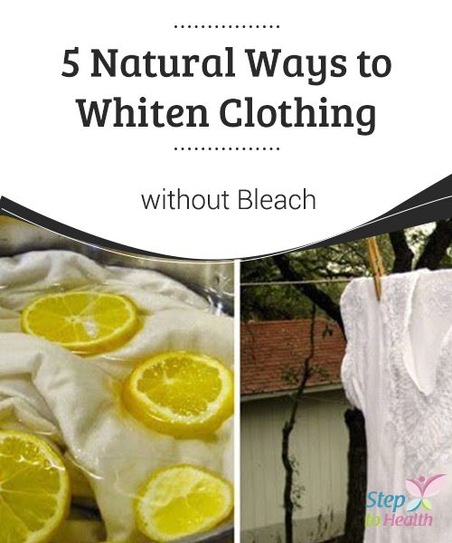 5 Natural Ways to #Whiten Clothing without #Bleach   In today's article we want to share some #tricks to clean your laundry and whiten #clothing in a more environmentally-friendly way by using natural #products