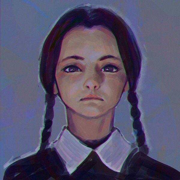 Wednesday Addams by Ilya Kuvshinov, via Behance