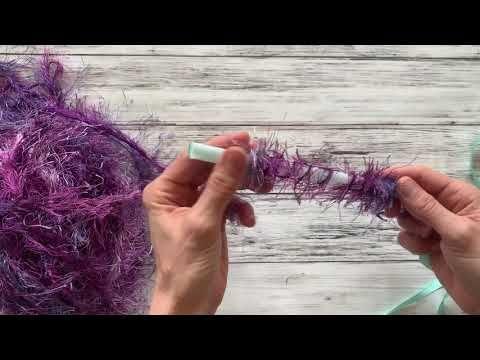 How to Make a One Straw Eyelash Yarn Lei – YouTube