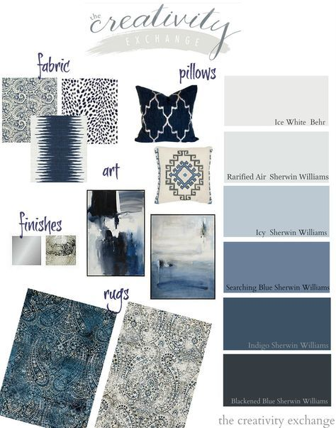 Layering shades of black, indigo and warm gray paint colors and accessories. The Creativity Exchange