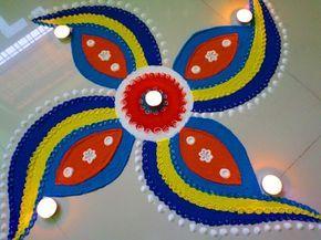 Diwali ki rangoli design ,दीवाली  की रंगोली डिजाईन - YouTube