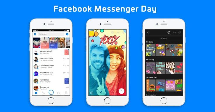 Facebook Messenger Day launches as a Snapchat Stories clone for making plans  |  TechCrunch