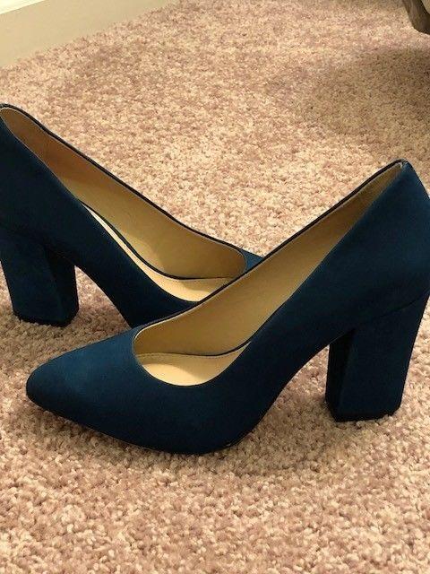 5674e0a76bcb Antonio Melani Valo Nubuck Block Heel Pumps Size 6M  fashion  clothing   shoes  accessories  womensshoes  heels (ebay link)