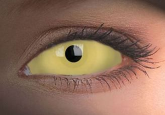 yellow sclera lens contacts amarela