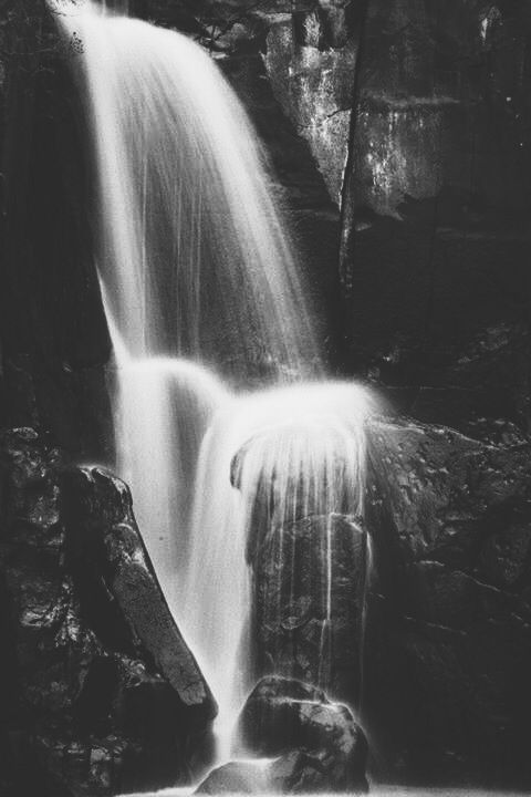 Long exposures. Black and white photography, waterfall, katiebodmannphotography