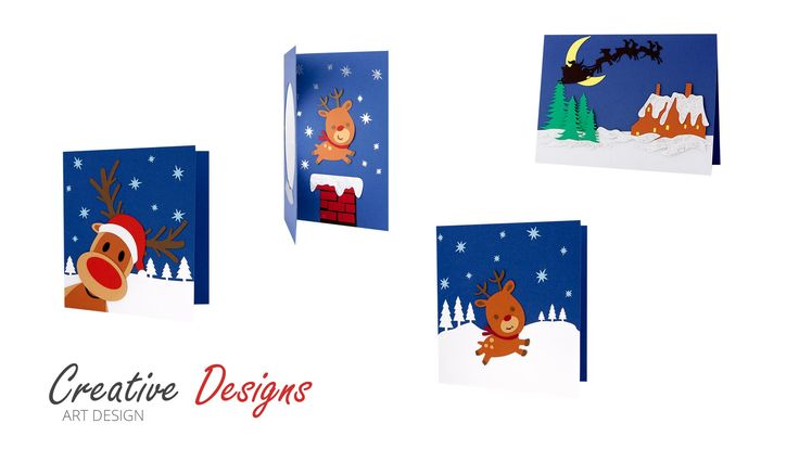 Felicitari Handmade Craciun | Creative art Designs