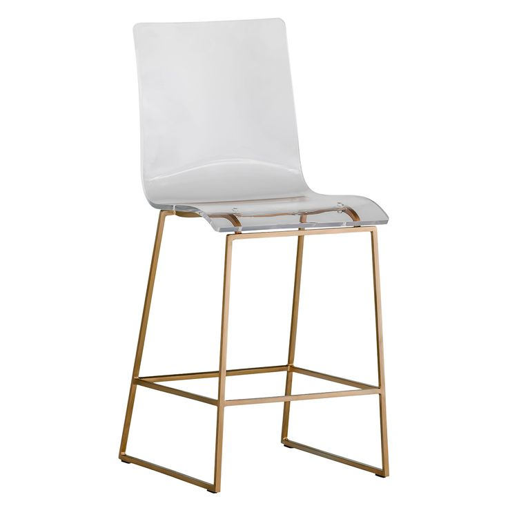 Exceptional The Gabby King Counter Stool Exudes Modern, Eclectic Style. With A Sleek  Gold Metal Base, This Accent Furnishing Features A Clear Acrylic Lucite  Seat For ... Amazing Ideas