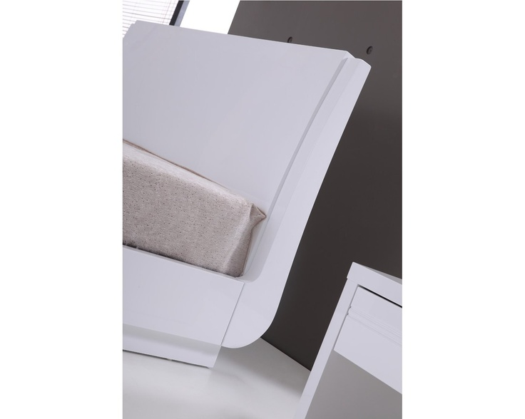 Aden High Gloss Ottoman Storage Bed – WHITE - Double Bed Frame Only