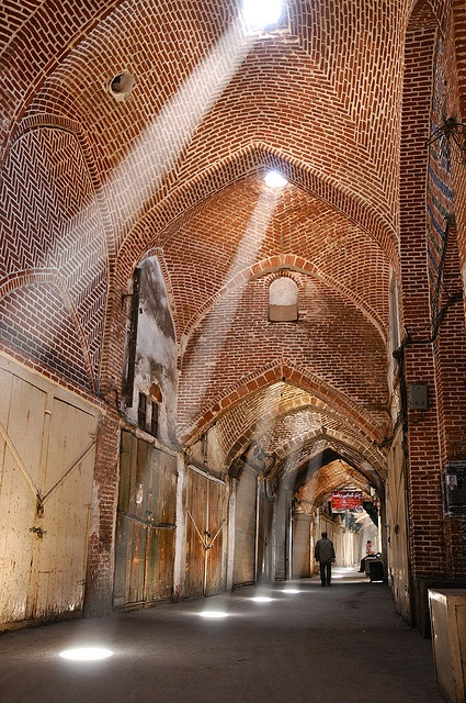 The Bazaar of Tabriz (Persian بازار تبریز, Bāzār-e Tabriz) is one of the oldest bazaars of the Middle East and the largest covered bazar in the world. It was inscribed as World Heritage Site by UNESCO in July 2010