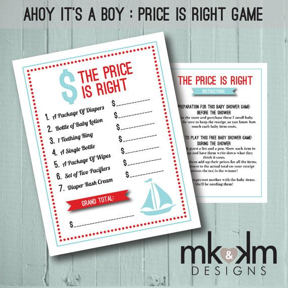 the price is right baby shower game ahoy it 39 s a boy by mkkmdesigns 5