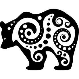 Tribal bear tattoo design                                                                                                                                                      Mehr