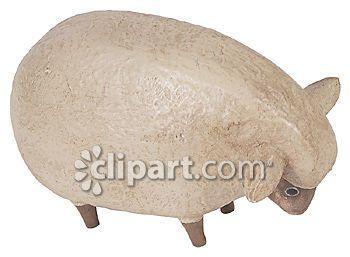 Clipart.com Closeup | Royalty-Free Image of household,ceramic,decoration,decorative,figurine,lamb,sheep