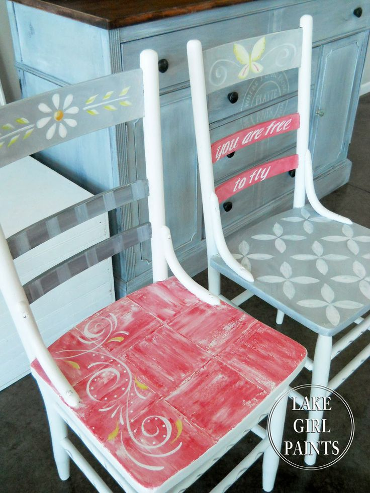 Lake Girl Paints: Cheery Girls Chairs