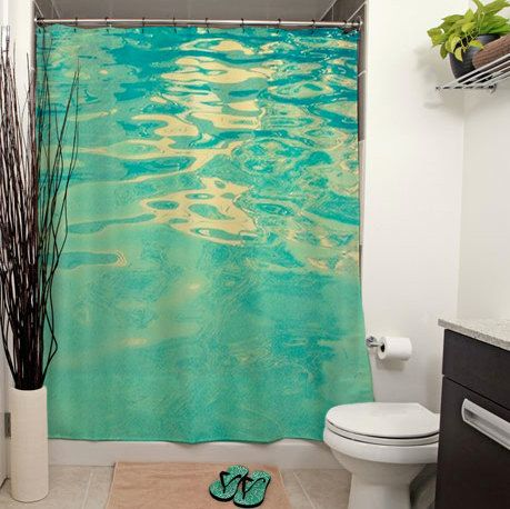 Summer Waters Printed Shower Curtain by JanetAnteparaDesigns, $65.00