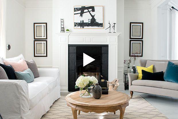Voyez les transformations réalisées par la designer d'intérieur Caroline Bouffard pour moderniser une maison centenaire.