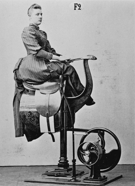 1890s : Zanders medico-mechanical gymnastics equipment ...wow, that's some serious equipment there...think I'll pass  :)