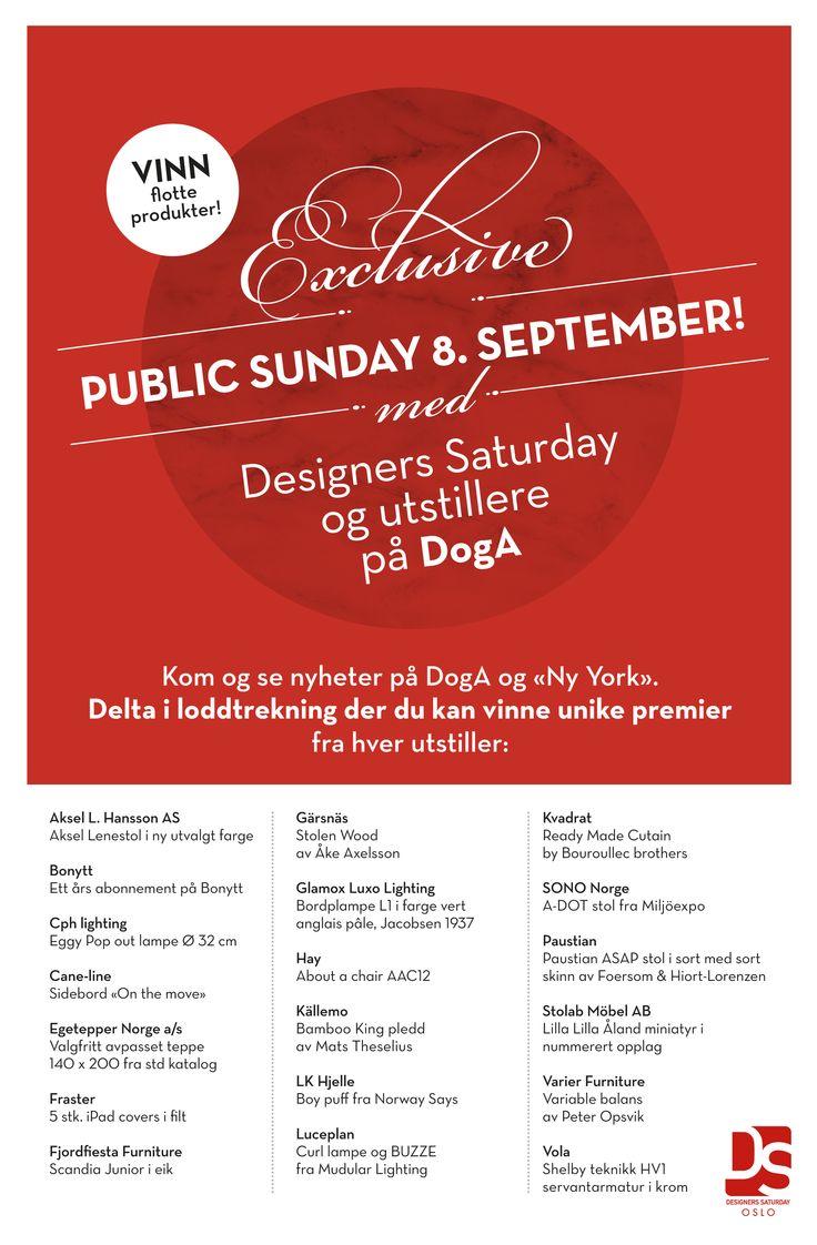Kom på Public Sunday! Sted: Oslo. Les mer her: http://www.designerssaturday.no/sondagsaktiviteter.aspx