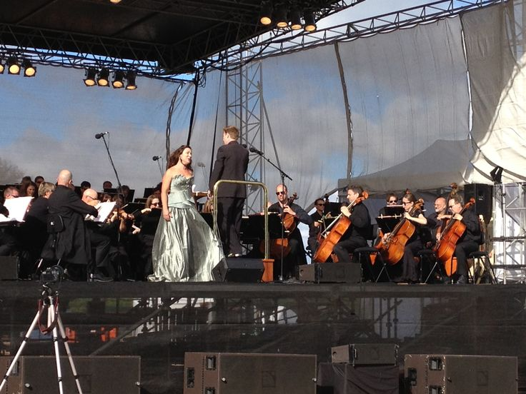 Melbourne Symphony Orchestra performs at Churchill Island Heritage Farm