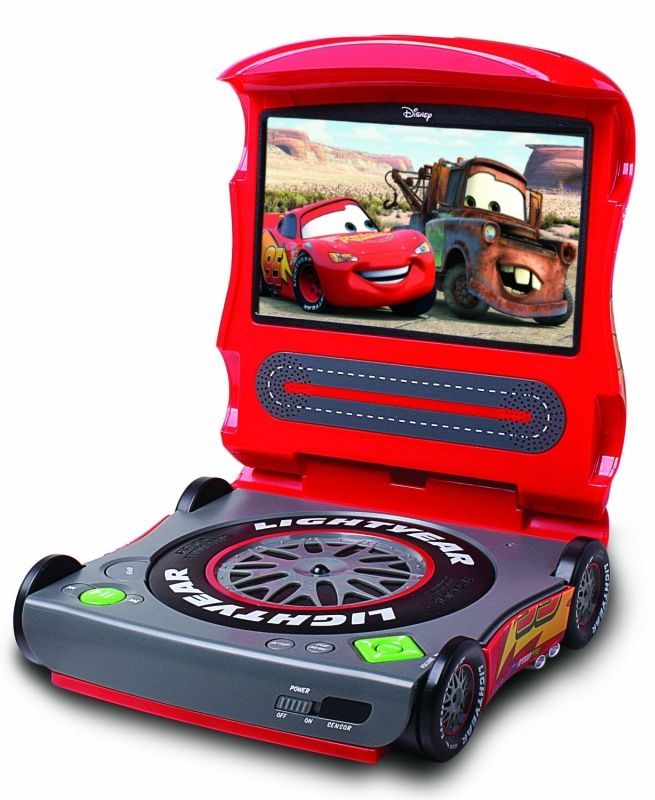 Disney Cars Portable DVD Player. Jaxson would love this!!