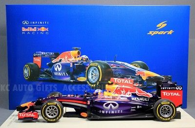 2014 Daniel Ricciardo #3 Infiniti Red Bull Racing RB10 Canada Grand Prix Winner 1:18 Scale Model Car by Spark 18S136. Very detailed with accurate graphics! Resin, no openings.  Formula 1, F1  Race: 2014 Canada GP.