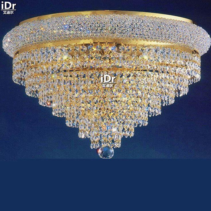 Gold Ceiling Lights Modern Hotel Lobby Lamp Bedroom High Quality Flush Mounted Hallway D58cm X