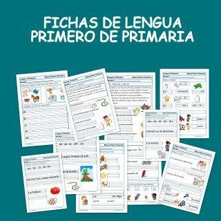 Fichas de lengua para primero de primaria